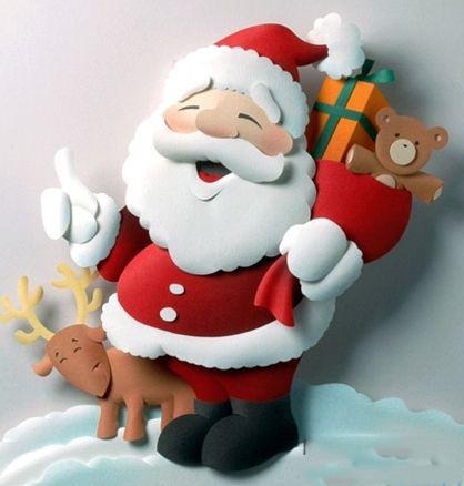 поделки с Дедом Морозом из бумаги своими руками паперкрафт