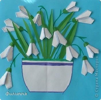 Цветы из бумаги подснежник своими руками