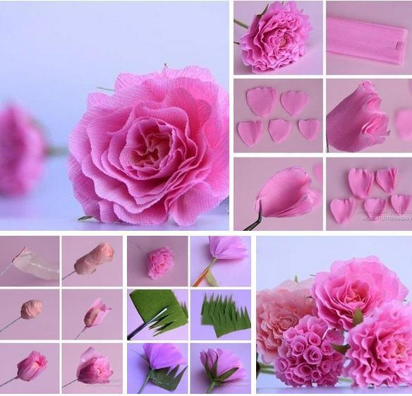 Как сделать цветы из гофробумаги фото 129