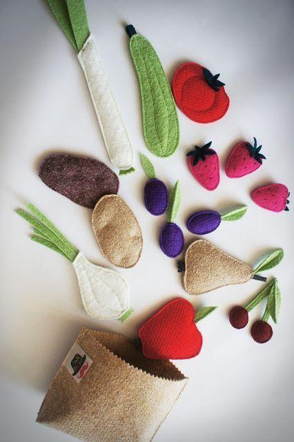 овощи из фетра
