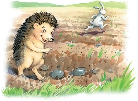 """Бр. Гримм """"Заяц и Еж"""". Как разделить сказку на смысловые ..."""