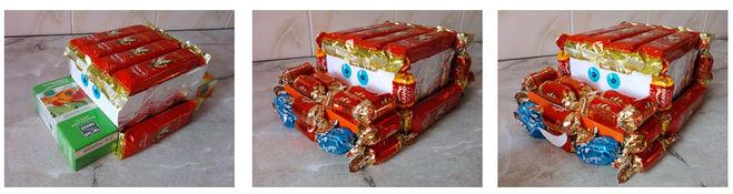 машина из конфет своими руками мастер-класс