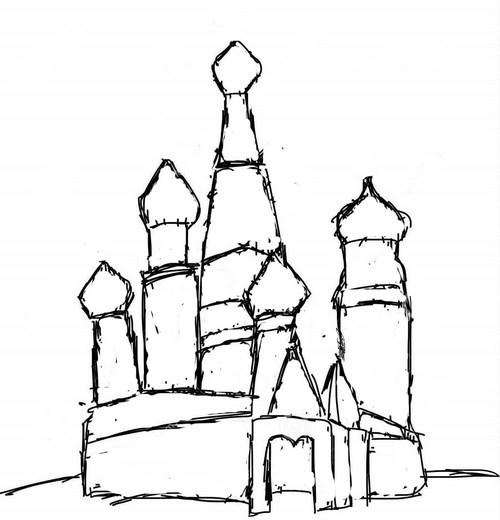 Как нарисовать ребенку кремль карандашом поэтапно для