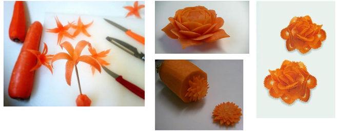 Сделать цветы из моркови своими руками 22