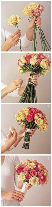 Как в домашних условиях сделать свадебный букет