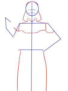 поэтапная схема рисования Дарта Вейдера