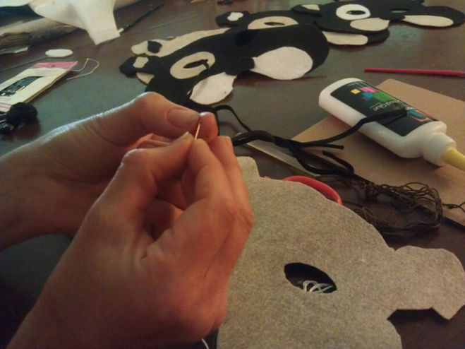 Как сделать маску лисы своими руками фото 191