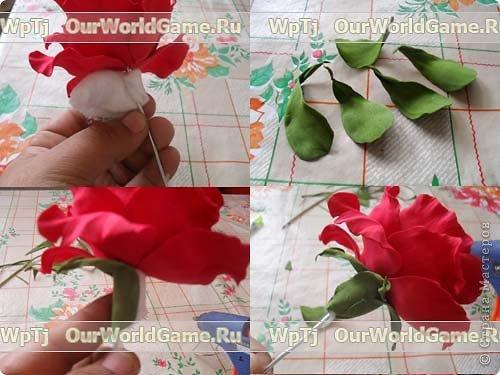 Как сделать розу из фоамирана фото