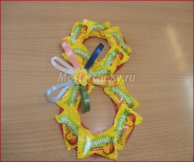 Как сделать открытку из конфет своими руками
