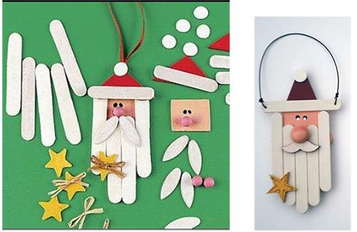 Дед Мороз из палочек от мороженого на Новый год мастер-класс