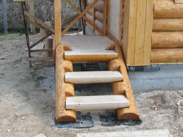 Как сделать ступеньки в баню из дерева своими руками 40