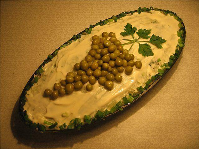 Как украсить оливье своими руками