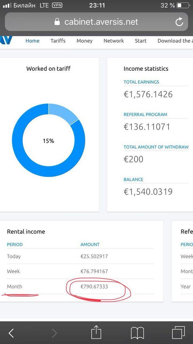 доход за 2 месяца