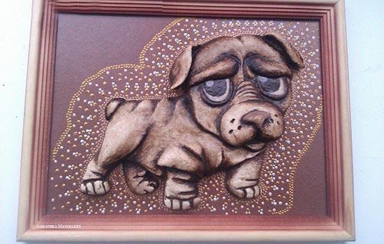 собака из соленого теста своими руками