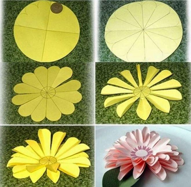 Как сделать цветы объёмные из бумаги