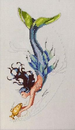 Вышивки крестиком русалки