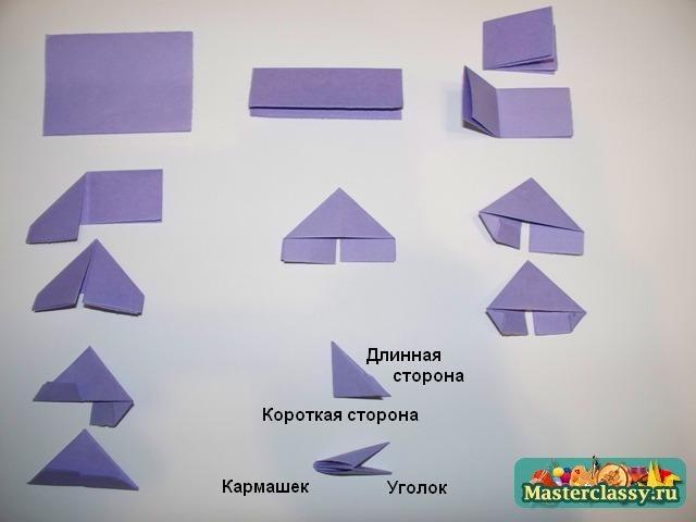 Как сделать модульное оригами торта