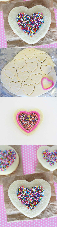 печенье-валентинка с посыпкой мастер-класс
