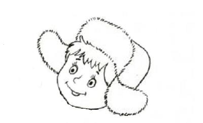 раскраска голова без лица для детей