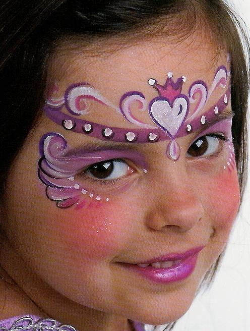 Рисуем принцессу на лице