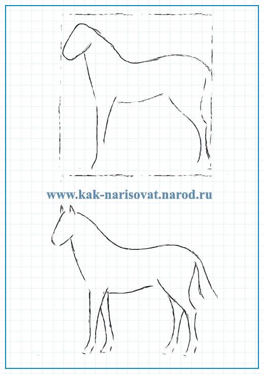 Как нарисовать жеребёнка карандашом
