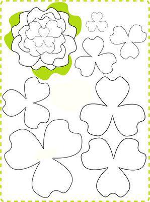 цветы своими руками шаблон