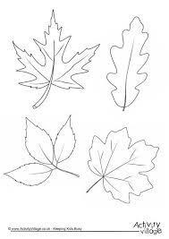 Шаблон осенних листьев трафарет выкройка