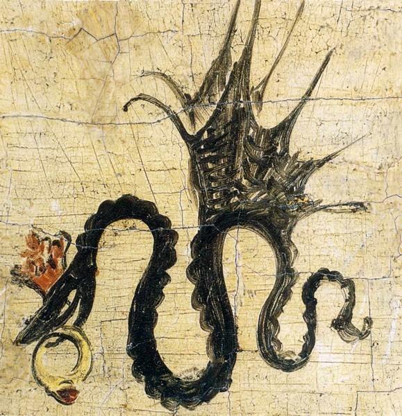 этот художник подписывал свои картины знаком крылатая змея