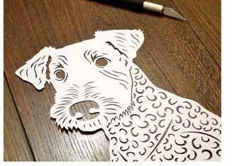шаблон собаки вытынанки