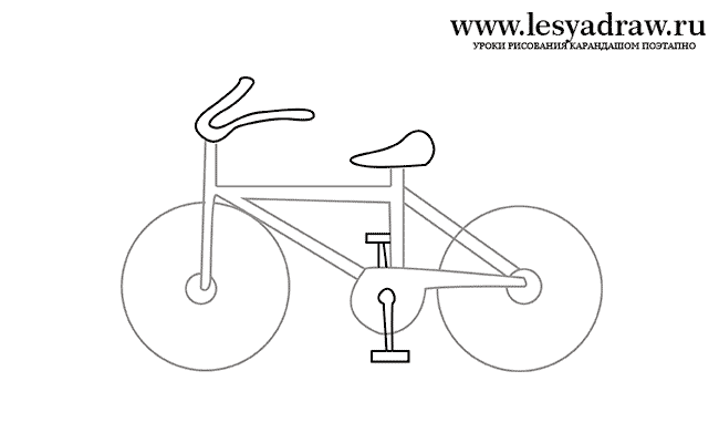 Ребенок рисуем велосипед