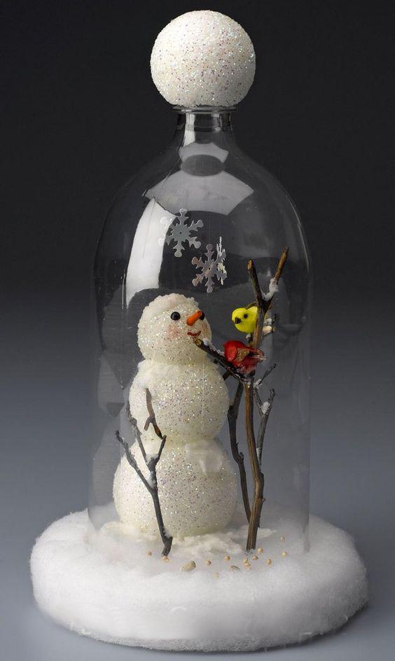 поделки игрушки из пластиковых бутылкок на Новый год своими руками