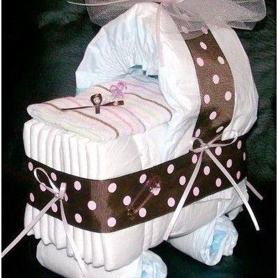 коляска из детской одежды