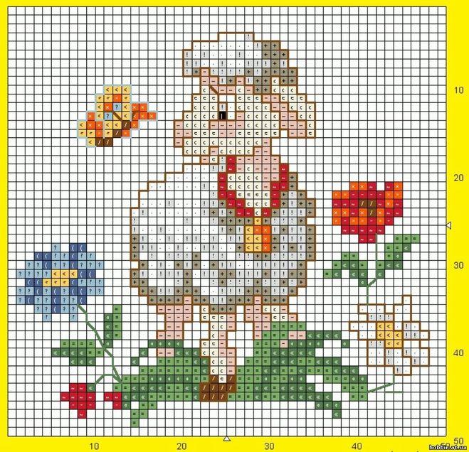 Схемы для вышивки крестом овцы