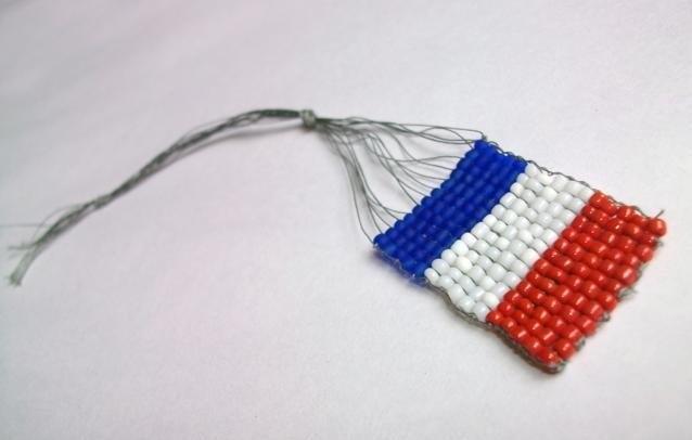 российский флаг из бисера