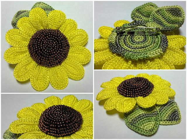 Как связать красиво цветы для шапки