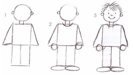 Ребенок полный рост рисунок
