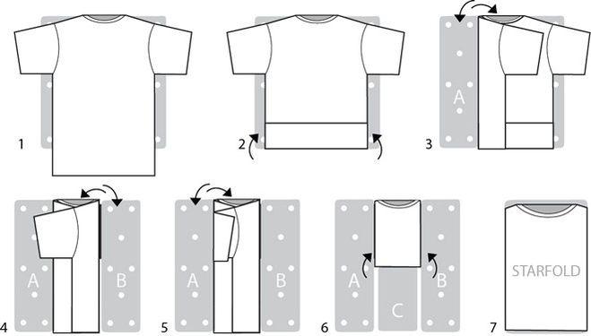 Как складывать футболку, чтобы не помялась?