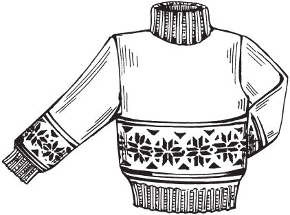 Раскраски свитеров для детей