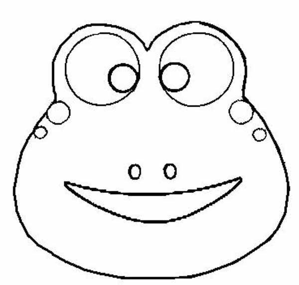 Как сделать маску из бумаги для лягушки