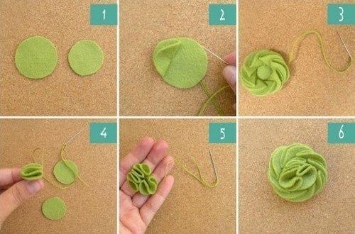 Розочки из фетра с пошаговым для начинающих