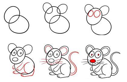 Дикий помещик рисунки карандашом мышь