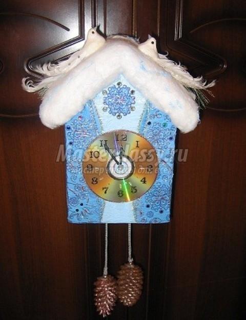 Как сделать поделку часы на новый год фото 527