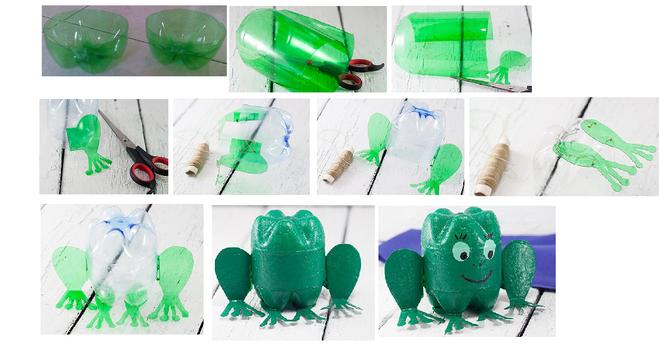 Как из бутылок сделать лягушек из 244