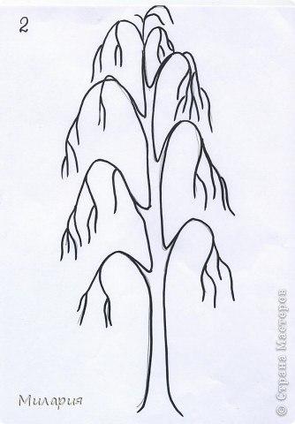 Как рисовать берёзу поэтапно