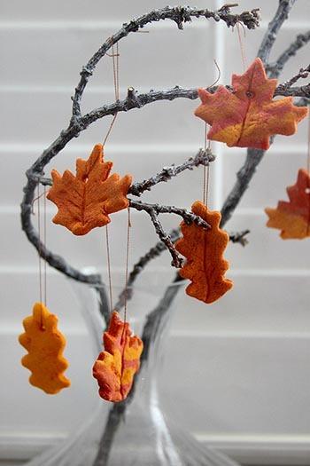 поделка на тему осени из соленого теста своими руками листья
