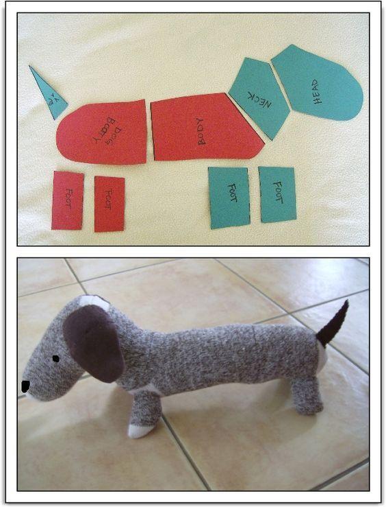 Собака из носка схема
