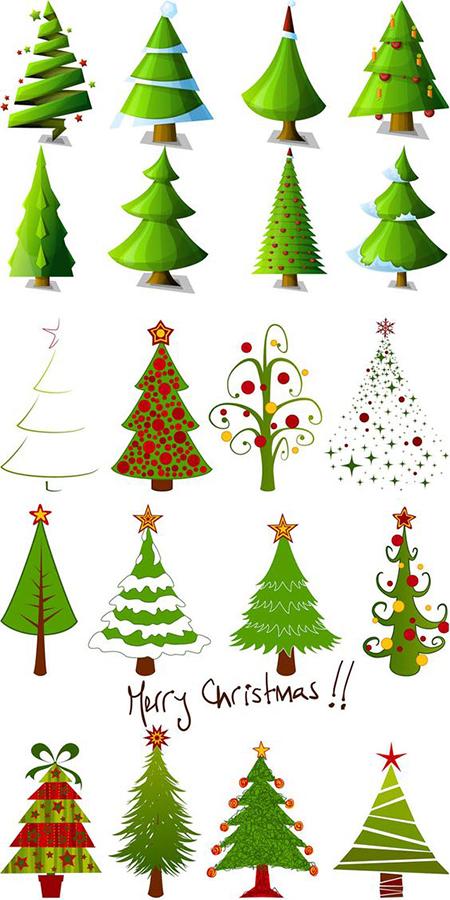 шаблон елки на Новый год