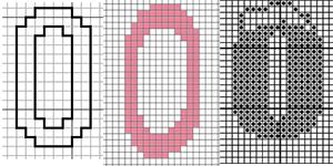 шаблон с цифрами вышивка крестиком
