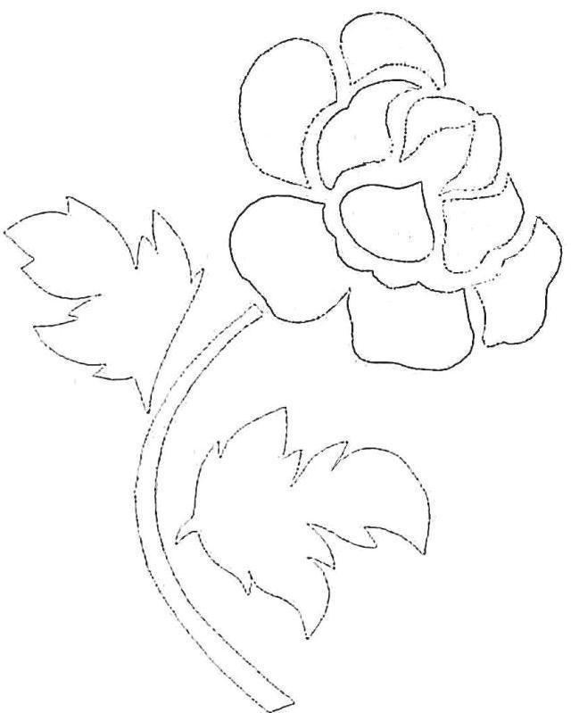 Вытынанка. цветы