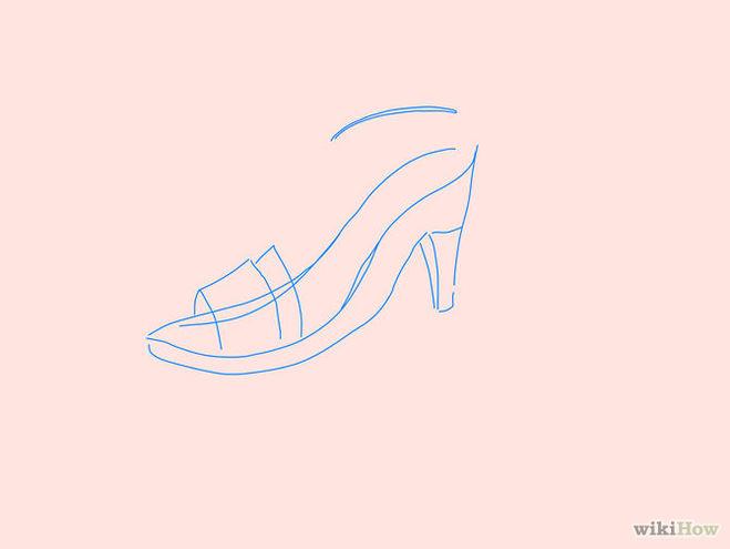 нарисовать туфли 3